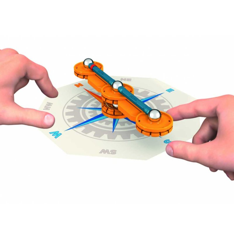 """Магнитный Компас """"Mechanics Compass"""" 21 деталь, Geomag"""