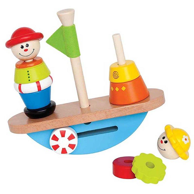 """Деревянная игрушка-балансир """"Balance Boat"""", Hape"""