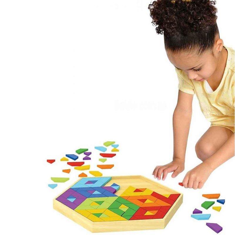 """Деревянная игрушка-головоломка """"Mosaic Puzzle"""", Hape"""