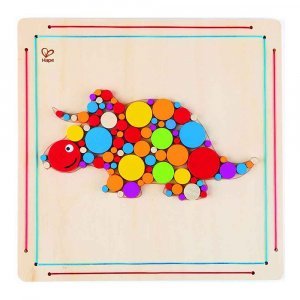 """Деревянная игрушка-головоломка """"Triceratops Mosaic"""", Hape"""