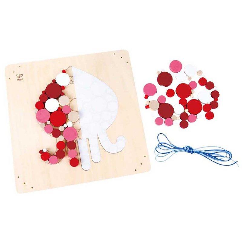 """Деревянная игрушка-головоломка """"Ocean Octopus Mosaic Kit"""", Hape"""