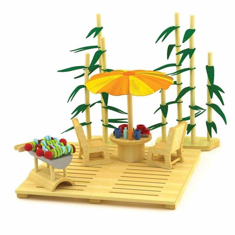 """Деревянная игрушка """"Набор мебели ECO Garden Set"""", Hape"""