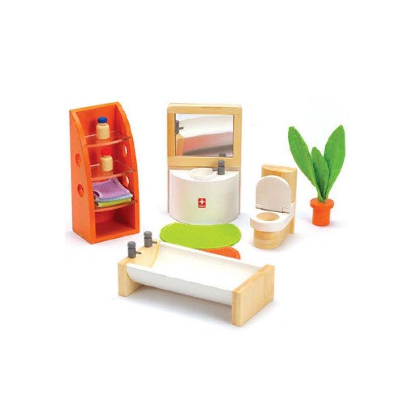 """Деревянная игрушка """"Набор мебели Trendy Bathroom"""", Hape"""