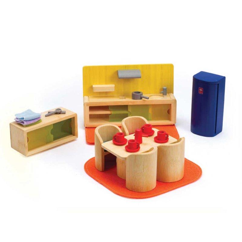 """Деревянная игрушка """"Набор мебели Cosy Kitchen Dinner"""", Hape"""