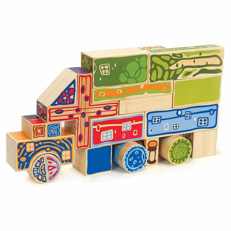 """Деревянная игрушка-конструктор """"Bamboo Blocks"""", Hape"""