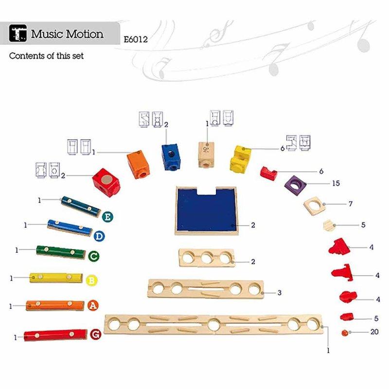 """Деревянный конструктор-головоломка """"Music Motion"""", Hape"""