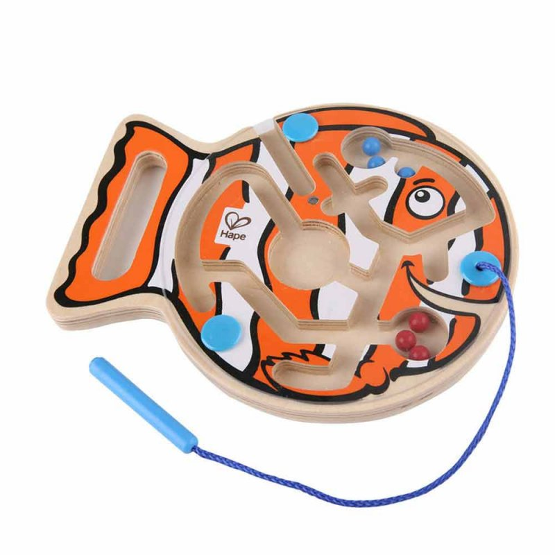 """Деревянная игрушка-головоломка с магнитами """"Рыбка"""", Hape"""