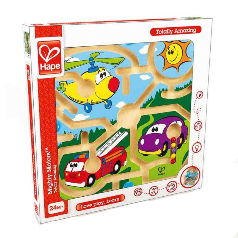 """Деревянная игрушка-головоломка с магнитами """"Авто"""", Hape"""
