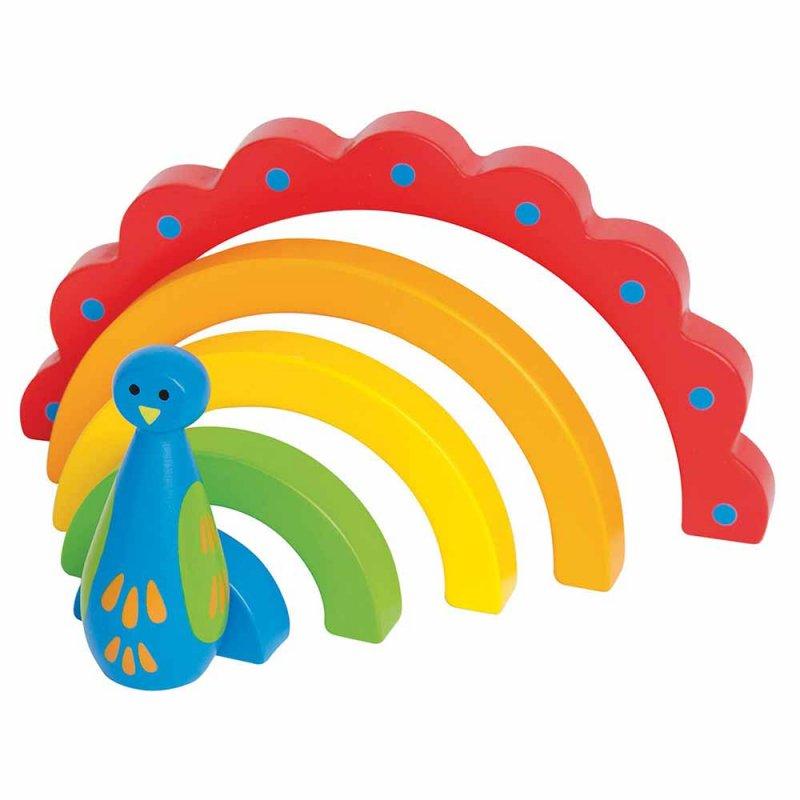 "Пирамидка-павлин ""Peacock Curves"", Hape"