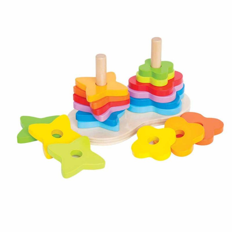 """Пирамидка-радуга """"Double Rainbow Stacker"""", Hape"""