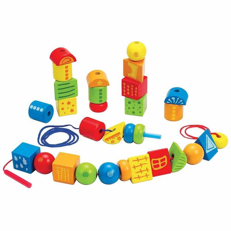 "Игрушка-шнуровка с геометрическими фигурами ""String-Along Shapes"", Hape"