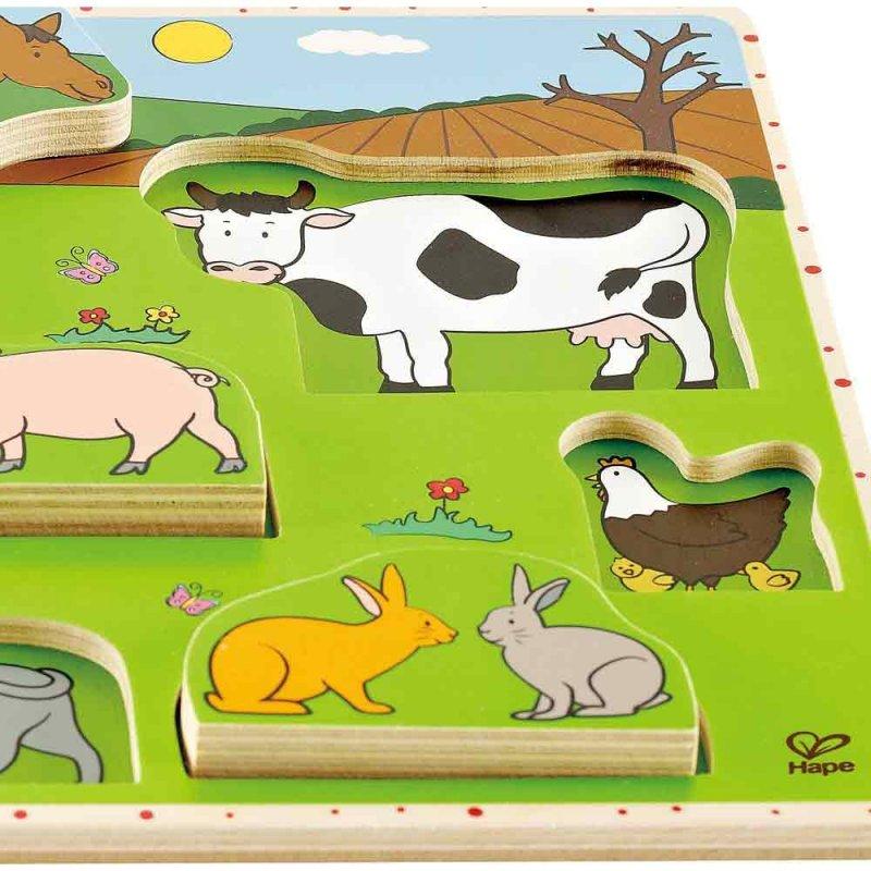 """Пазл """"Животные фермы"""", Hape"""