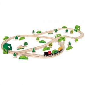 """Набор железной дороги """"Лесное приключение"""", Hape"""