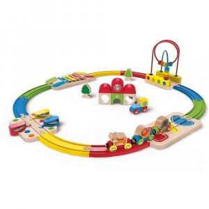 """Набор железной дороги """"Станция и ксилофон"""", Hape"""