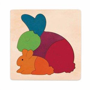 "Пазл ""Радужный кролик"", Hape"