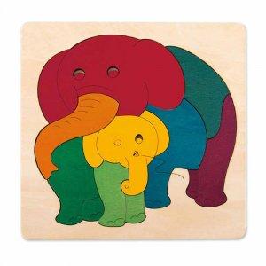 """Пазл """"Слон с малышом"""", Hape"""