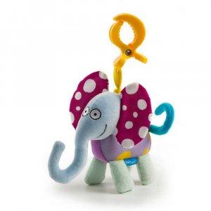 """Игрушка-подвеска на прищепке """"Дрожащий слоник"""", Taf Toys"""
