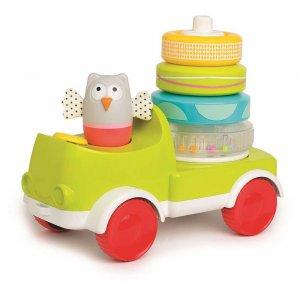 """Развивающая машинка с пирамидкой 2 в 1 """"Совушка-малышка"""", Taf Toys"""