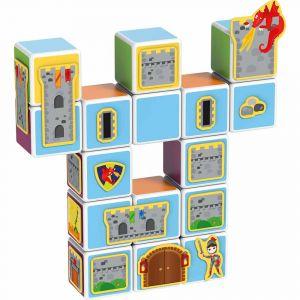 "Магнитные кубики MAGICUBE ""Замки и дома"", Geomag"