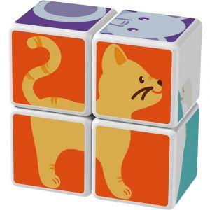 """Магнитные кубики MAGICUBE """"Друзья животных"""", Geomag"""
