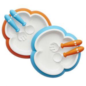 Детский набор тарелок с ложкой и вилкой, BabyBjorn