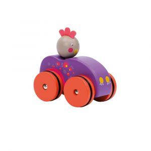 """Игрушка на колесах """"Цыпленок в авто"""", Moulin Roty"""