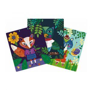 """Карточки для вышивания """"Лесные звери"""", Moulin Roty"""