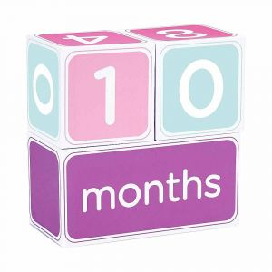 """Подарочный набор кубиков с наклейками """"Первая годовщина"""", PearHead"""
