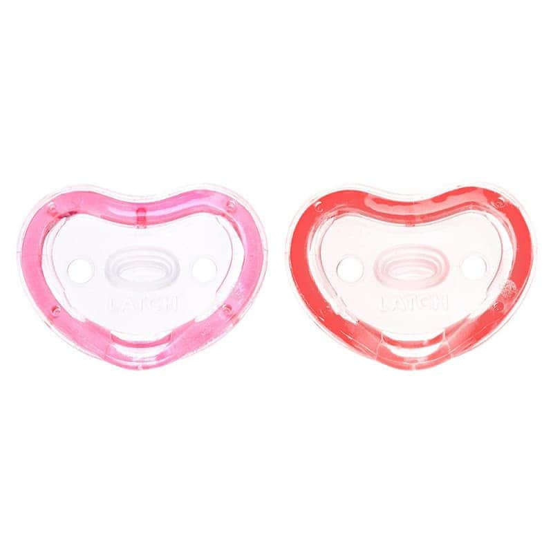 Пустышка силиконовая 2 шт. (красная и розовая), Munchkin