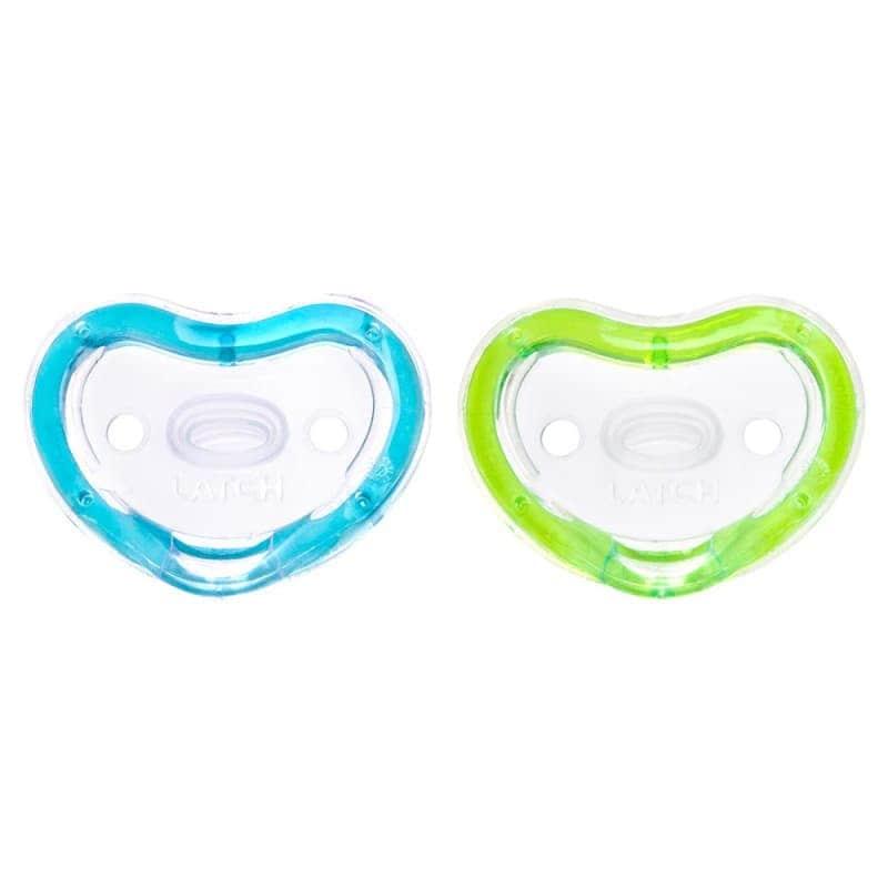 Пустышка силиконовая 2 шт. (зеленая и голубая), Munchkin