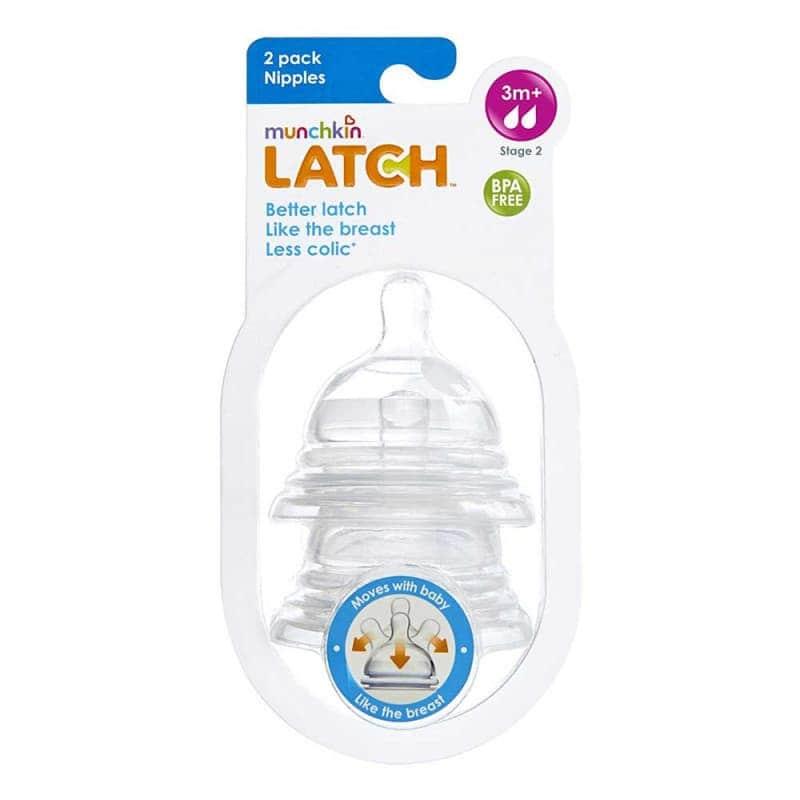 Соска силиконовая LATCH (2 шт.), Munchkin