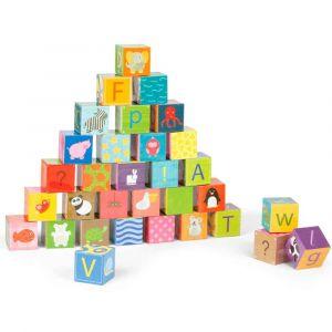 """Кубики картонные """"Алфавит"""", Janod"""