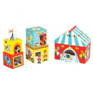 "Кубики картонные ""Цирк"", Janod"