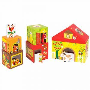 """Кубики картонные """"Ферма"""", Janod"""
