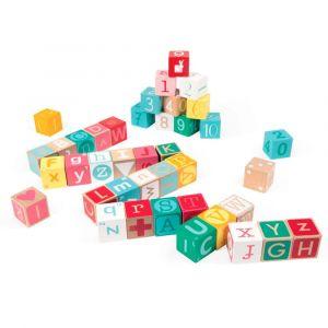 "Кубики ""Алфавит и цифры"", Janod"