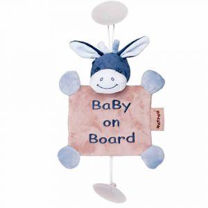 "Игрушка на присосках ""Ребенок на борту и ослик Алекс"", Nattou"