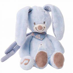 """Мягкая музыкальная игрушка """"Кролик Бибу"""", Nattou"""