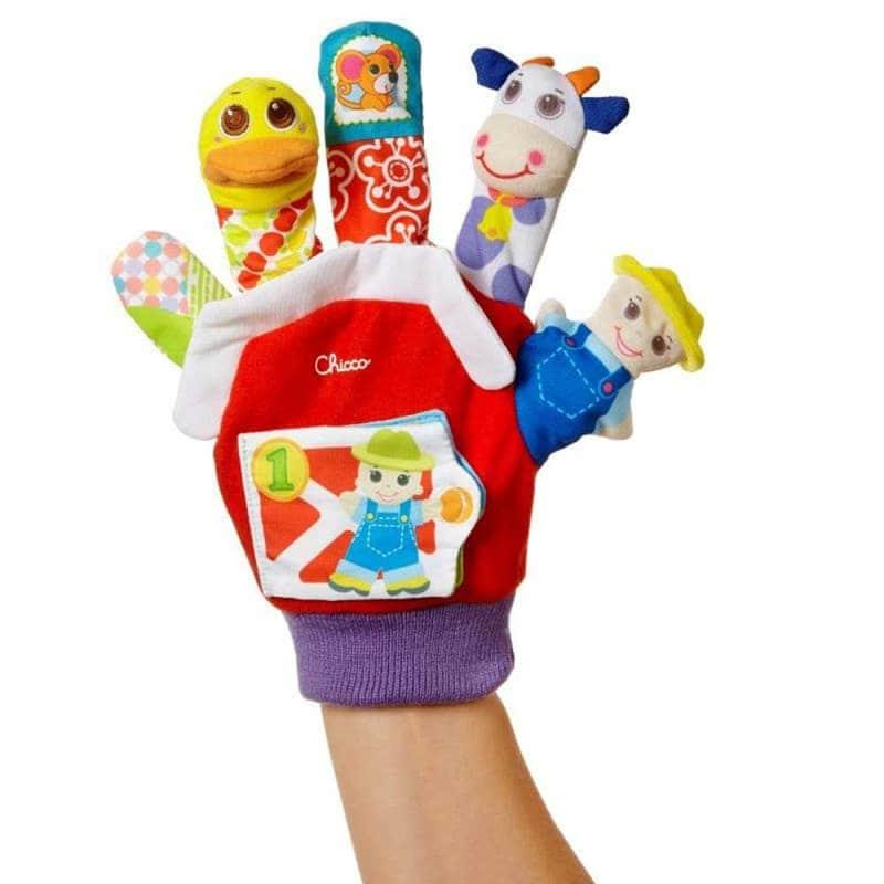 """Игрушечная рукавичка """"Ферма"""", Chicco"""