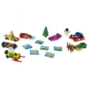 Рождественский набор-календарь с машинками, Hot Wheels