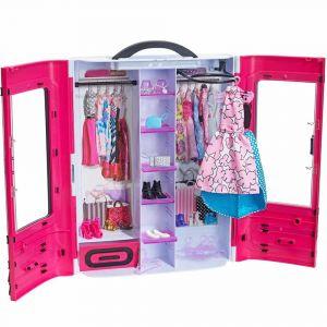 Шкаф-чемодан для одежды куклы, Barbie