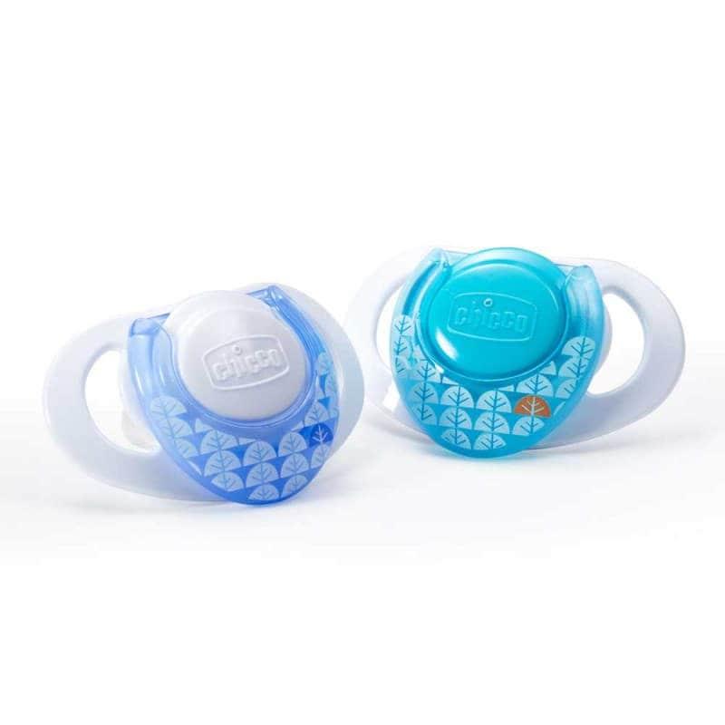 Пустышка силиконовая голубая Physio Compact 2 шт., Chicco