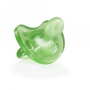 Пустышка силиконовая Physio Soft зеленая, Chicco