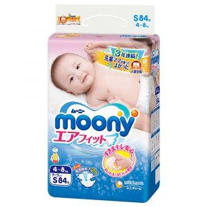 Подгузники Moony S 84 шт. (4-8 кг) для внутреннего рынка Японии