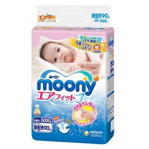 Подгузники Moony NB 90 шт. (0-5 кг) для внутреннего рынка Японии