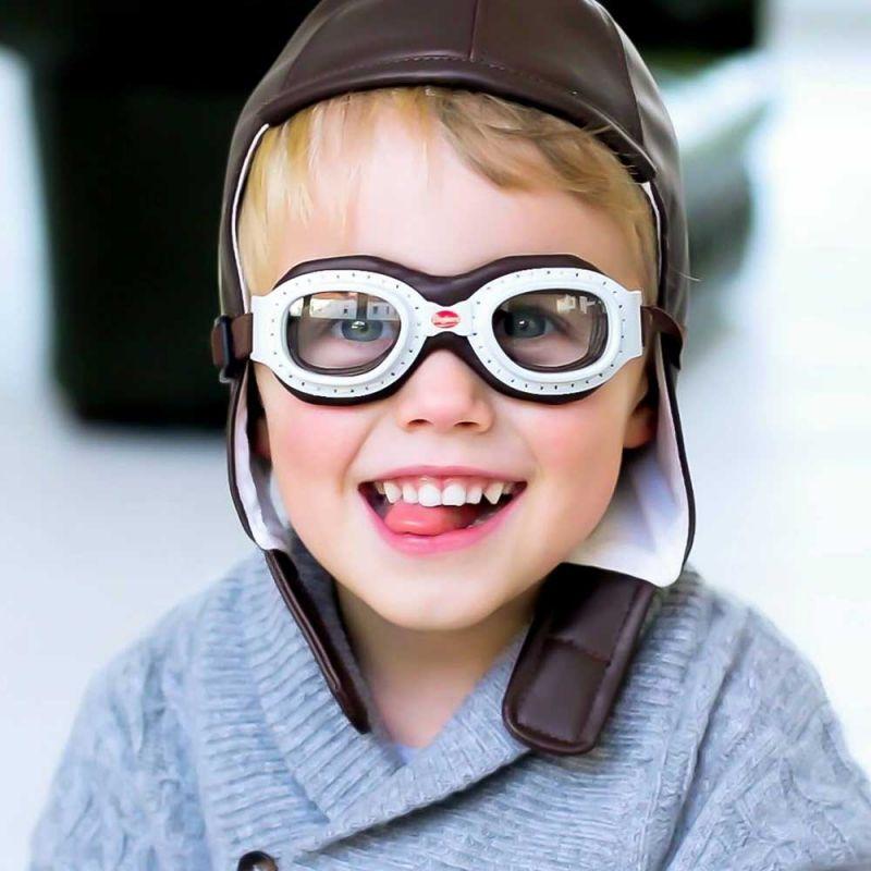 "Детский шлем и очки ""Vintage Racing cap & goggles"", Baghera"