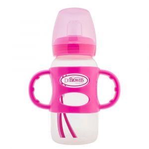 Бутылочка-поильник с широким горлышком и силиконовыми ручками, Dr. Brown's