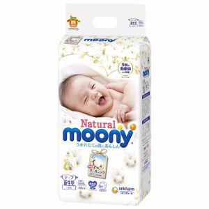 Подгузники Moony Natural NB 66 шт. (0-5 кг) для внутреннего рынка Японии