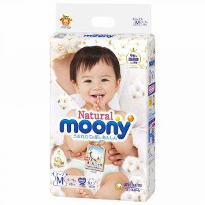 Подгузники Moony Natural M 48 шт. (6-11 кг) для внутреннего рынка Японии