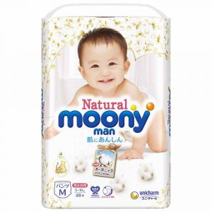 Трусики Moony Natural M 48 шт. (5-10 кг) для внутреннего рынка Японии