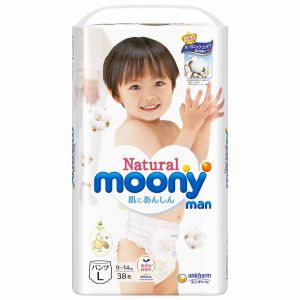Трусики Moony Natural L 38 шт. (9-14 кг) для внутреннего рынка Японии